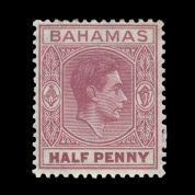 TUT1787 - Bahamas - KGVI ½ d brown-purple, a NEW RARITY. CLICK FOR FULL DESCRIPTION